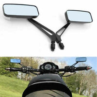 Rectangle Black Motorcycle Rear View Side Mirrors With 8mm 10mm Screw For Yamaha