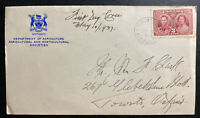 1937 Toronto Canada first day cover King George VI Coronation Agricultural Dept