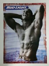 NEW Budweiser Bud Light Beer Poster 20x28 Sexy Bar Guy Male Beer Gay Interest