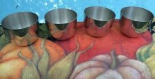 Lot of 4 Punch Cups Jefferson Bar Ware Modernist Kirk Pewter Mid Century Vintage