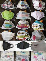 Double Cotton Face Mask Washable Adult Size Reusable Unisex LOT Set of 5 2 or 1