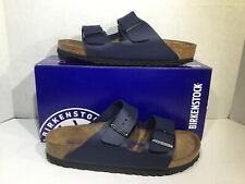 Birkenstock Womens Size 8 EU 39 Narrow Arizona Blue Birko-Flor Sandals ZB5-2204