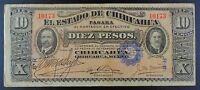 1914 Revolutionary Mexico - El Estado de Chihuahua 10 Pesos Banknote, P-S533a.