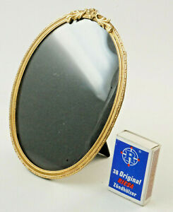 Metal Frame Oval, Nouveau, Bronze, Gold Plated, With Glass, 11x15, 5 CM (H12)