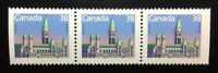 Canada #1165as MNH, Houses of Parliament Definitive Strip of Stamps 1988