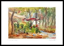 Pierre Jean llado Promenade et Fleurs póster imagen son impresiones artísticas & Alu rahmen 50x70cm