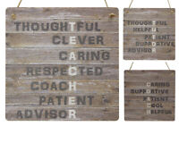 Best Teacher Gifts Thank You Present Rustic Wooden MDF Plaque End of Term Sign