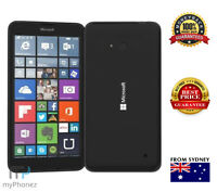 "Used Microsoft Lumia 640 Black LTE 5"" 8GB Quad Core 8MP Windows Unlocked OZ"