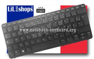"""Clavier Français Original Pour HP EliteBook 820 G1 / 820 G2 Rétroéclairé 12.5"""""""