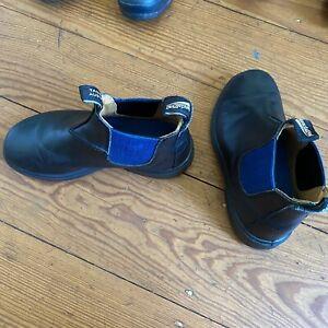 BLUNDSTONE Kind 580 Schuhe Elastisch Blau Stiefeletten Leder Größe 34