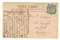 EDW.VII.1905 BELPER SQUARED CIRCLE POSTMARK.PLEASE SEE PICTURE