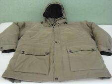 Mens Claiborne Heavy Khaki Winter Duck Down Fill Blend Puffer Jacket Coat XXL