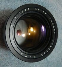 LEICA LEITZ 90MM F/2.0 SUMMICRON-R (3-CAM) LENS Canada Used with Filter EX!!