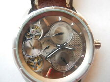 Fossil Twist Automatic men's brown leather dress analog & w-resist watch.ME-1020