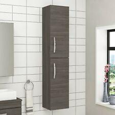 Modern 300mm Wall Hung Bathroom Cabinet Shelf Cupboard Storage Unit Grey Elm