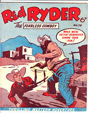 "Red Ryder No 76 1950's -Australian-""Red Held At Gun Point  Cover ! """