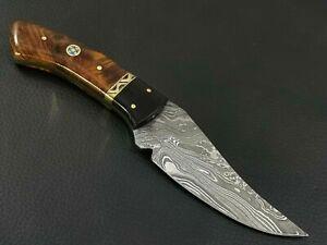 CUSTOM HAND MADE DAMASCUS STEEL HUNTING KNIFE CF-9514