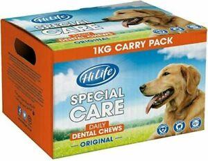 Hi Life Special Care Daily Dental Dog Chews Original, 1kg Bulk Box - raw hide