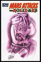 Mars Attacks The Holidays IDW Trade Paperback TPB Cover A Bill Morrison art New