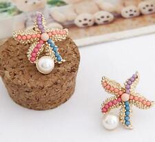 women Jewelry Betsey Johnson Color starfish pearl earrings temperaments fashion
