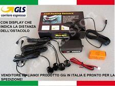 KIT 4 SENSORI DI PARCHEGGIO AUTO NERI DISPLAY PEUGEOT 206 207 4008 308 1008 2008