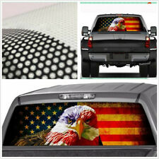 Car Rear Window Sticker American Eagle Flag Graphic Decal 135 x 36cm Waterproof