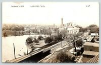 Hartford Wisconsin~Birdseye Down Railroad Tracks~Grain Elevator~Lumber~1913 RPPC