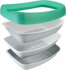 New listing Luuup Litter Box - 3 Sifting Tray Cat Litter Box - High Sided with Spill Guard