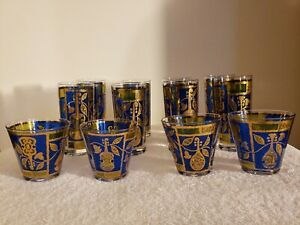 12 Georges Briard Mid Century High Ball and Old Fashion Vintage Glass Set