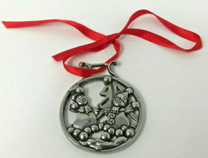 """""""SNOWMAN AND SNOWBALLS"""" Christmas Tree Decoration By English Pewter Company"""
