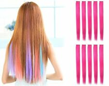 "10 PCS 22"" Straight Colored Party Highlight Clip on in Hair Extensions New York"