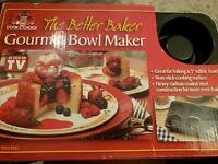 """NEW Gourmet Bowl Maker BETTER BAKER As Seen on TV 3"""" Edible Cook Choice Pan"""