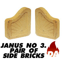 Janus No. 3 Pair of Side Bricks - Fuel Saver Fire Brick For Open Fire (7 inch)
