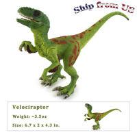 """Jurassic Realistic Velociraptor Raptor Dinosaur Model 7"""" Figure For Kid Toy Gift"""