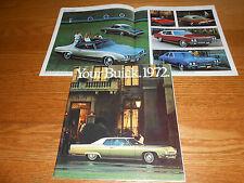 1972 BUICK RIVIERA SKYLARK GS LESABRE CENTURION ELECTRA 52 p. BROCHURE / CATALOG