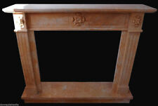 Fireplace Marble Pink Old Marble Fireplace Oak Classic Antique Style Empire