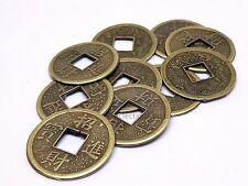 Feng Shui LUCKY MONEY COINS Emperor Fortune Wealth 24mm Chinese Dynasty X 10
