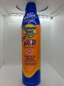 Banana Boat SPF50+ Spray SPORT 9.5oz Family Size 55% More Exp:07/2022