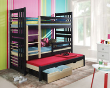 Bunk Bed Roland 2 Double Kid Sleeper Childrens Bedroom 24 Colours Solid Wood