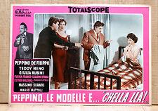 PEPPINO, LE MODELLE E CHELLA LLà fotobusta poster Bramieri Fulvia Franco BB11