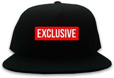 Kings Of NY Exclusive Red Box Logo Printed Snapback Hat Baseball Cap Black