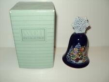 New in Box Avon 1987 Christmas Bell Children Carolers Cobalt Blue