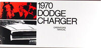 1970 Dodge Charger Owners Manual 70 Owner Operator User Guide Instruction Book
