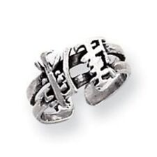 Sterling Silver Chinese Character TOE Ring Adjustable NEW Limited Stock