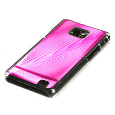 AT&T SAMSUNG GALAXY S2 II BRUSHED ALUMINUM PLATE ACRYLIC CASE PINK