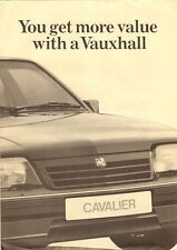 Vauxhall Astra Belmont Cavalier Competitor Comparisons 1986-7 UK Market Brochure
