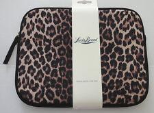 Lucky Brand Leopard Print Neoprene Zip Sleeve Tablet Ipad Cover 10'' NWT