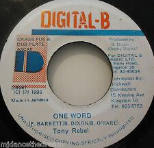 "TONY REBEL - One Word ~ 7"" Single JA PRESS"
