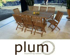 Teak outdoor Dining Set Foldable Table and chairs high Quality
