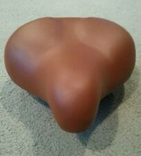 "NEW Light brown  Wide Comfort Beach Cruiser Bicycle Spring Saddle Seat, 10""by10"""